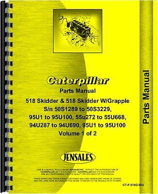Caterpillar 518 Skidder Parts Manual Sn 50s1289-50s3229