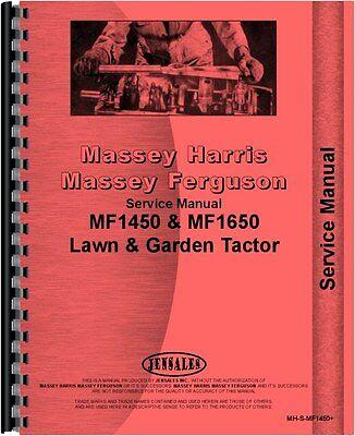 Massey Ferguson 1450 1650 Lawn Garden Tractor Service Manual Mh-s-mf1450