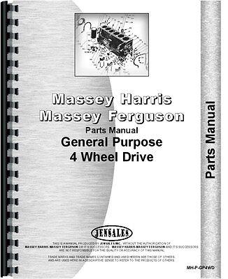 Massey Harris Gp Tractor Parts Manual Mh-p-gp4wd