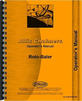 Allis Chalmers Rotobaler Baler Operators Manual Ac-o-rotobaler65667