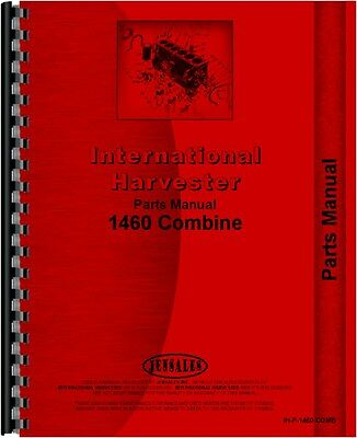 International Harvester 1460 Combine Parts Manual All Sn