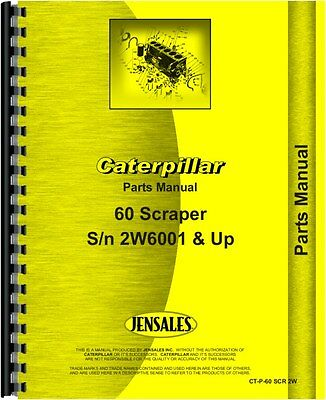 Caterpillar 60 Scraper Parts Manual Sn 2w5001
