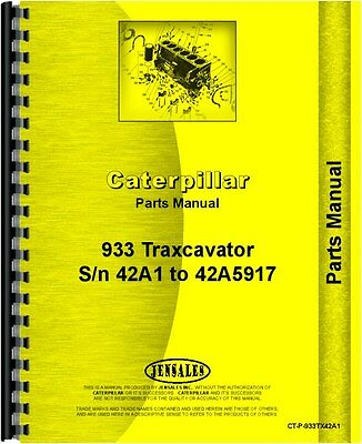 Caterpillar 933 Traxcavator Parts Manual Sn 41d1 And Up