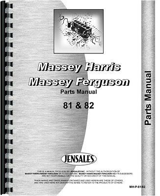 Massey Harris 81 Tractor Parts Manual