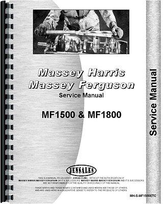 Massey Ferguson 1500 1800 Tractor Service Manual Mh-s-mf1500etc