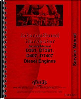 International Harvester Diesel Combine Engine Service Manual Ih-s-eng D361
