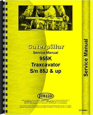 Caterpillar 955k Traxcavator Service Manual Sn 85j Ct-s-955k