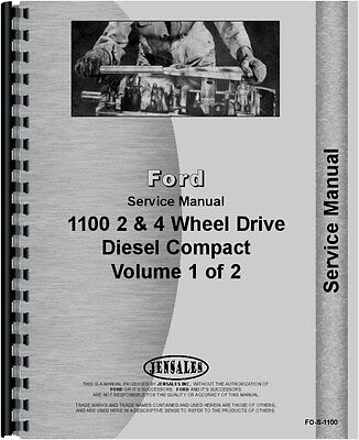 Ford 1100 Tractor 2 4 Wheel Drive Service Manual Fo-s-1100