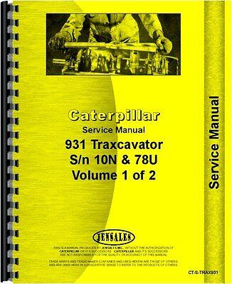 Caterpillar 931 Traxcavator Service Manual Ct-s-trax931
