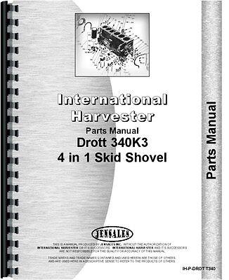 International Drott Shovel Loader Parts Manual Ih-p-drot T340