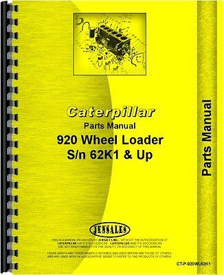 Caterpillar 920 Wheel Loader Parts Manual Sn 62k1 To 62k4605