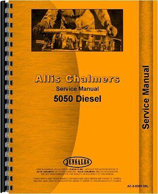 Allis Chalmers 5050 Dieseltractor Service Manual Ac-s-5050 Dsl