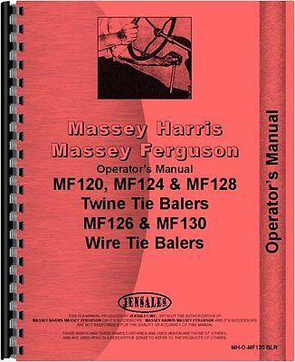 Massey Ferguson 120 124 126 128 130 Baler Operators Manual