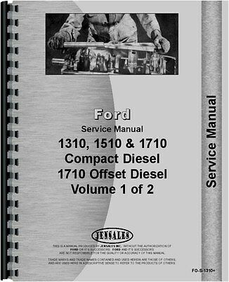 Ford 1310 1510 1710 Tractor Service Manual Fo-s-1310