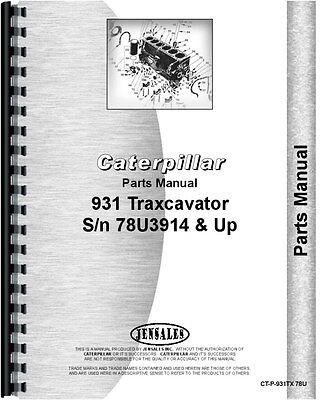 Caterpillar 931 Traxcavator Parts Manual Sn 78u3914 And Up