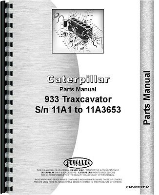 Caterpillar 933 Traxcavator Parts Manual Sn 11a1-11a3653