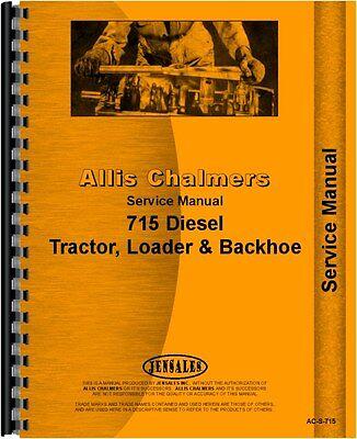 Allis Chalmers 715 Tractor Loader Backhoe Service Manual Ac-s-715