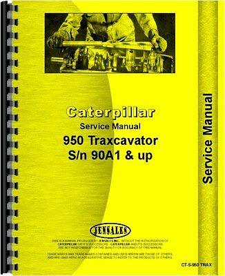Caterpillar 950 Traxcavator Service Manual Sn 90a1 And Up