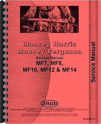 Massey Ferguson 10 12 14 7 8 Lawn Garden Tractor Service Manual Mh-s-mf7-14