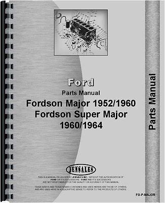 Ford 4000 5000 Major Tractor Parts Manual Fo-p-major