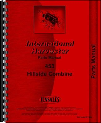 International Harvester 453 Combine Parts Manual