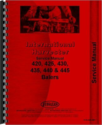 International Harvester 420 425 435 440 445 Baler Service Manual Ih-s-420425