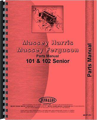 Massey Harris Tractor Parts Manual 101 Sr Tractor 102 Sr Tractor