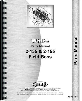 White 2-135 2-155 Diesel Tractor Parts Manual Catalog