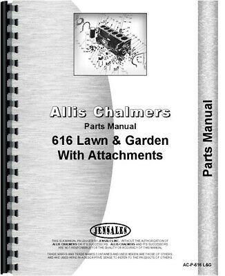 Allis Chalmers 616 Lawn Garden Tractor Parts Manual Catalog