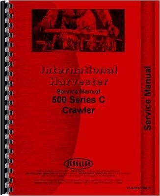 International Harvester 500c Crawler Service Manual Ih-s-500c Cwlr