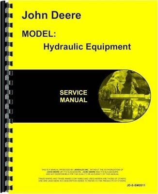 John Deere Power Trol Hydraulic Lift Service Manual For A B G R Ar Ao Tractors