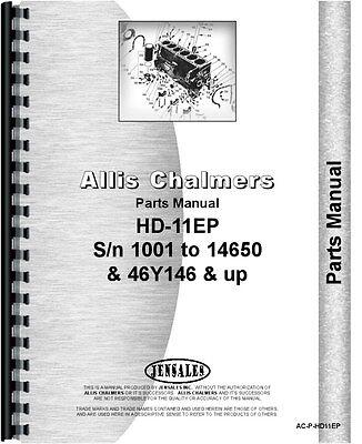 Allis Chalmers Hd11ep Sn 10001 - 14650 Crawler Parts Manual Ac-p-hd11ep