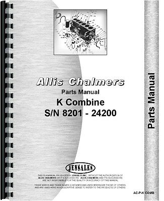Allis Chalmers K Combine Parts Manual