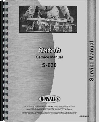 Satoh S-630 Tractor Service Repair Manual