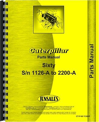 Caterpillar 60 Scraper Parts Manual Sn 1126a 2200a