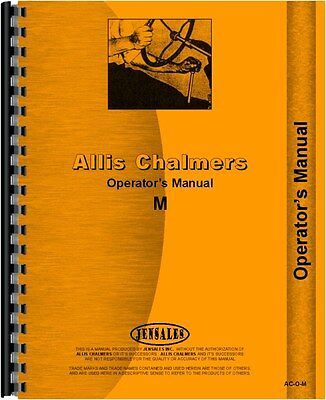 Allis Chalmers M Crawler Operators Manual Ac-o-m65640