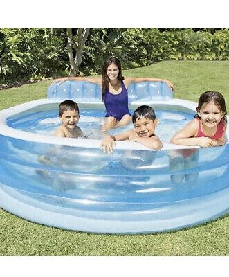 Intex Inflatable Swim Centre Large Paddling Swimming Seat Pool Family Lounge