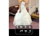 ivory wedding dress size 8-10