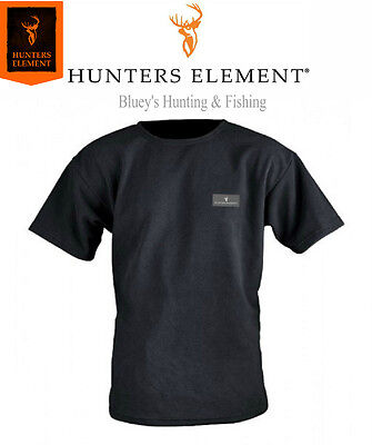 Hunters Element Mens fleece Black Hunting s/sleeve Hardman Tee shirt