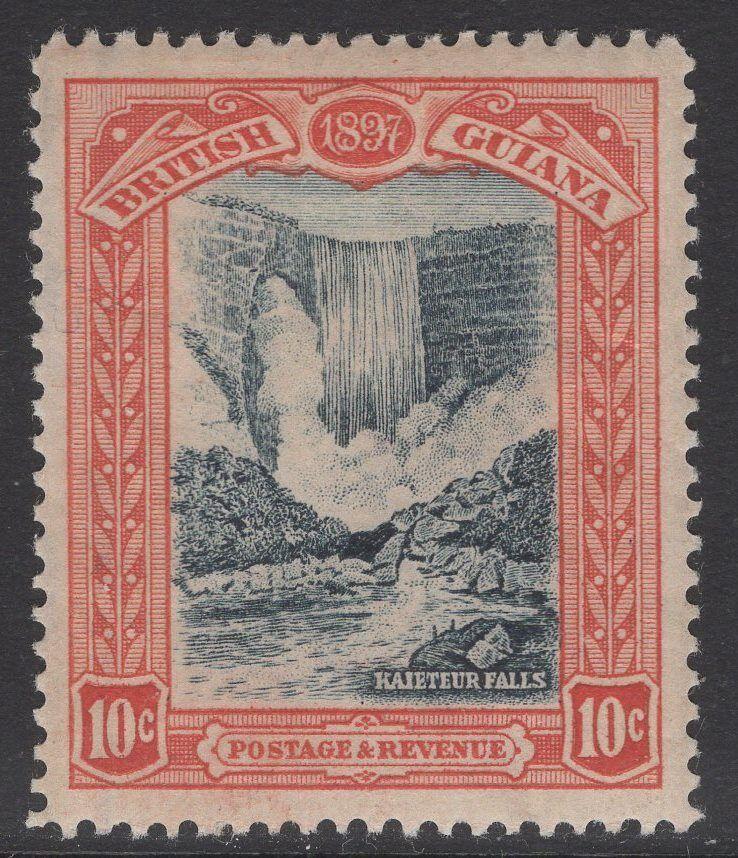 BRITISH GUIANA SG220 1898 10c BLUE-BLACK & BROWN-RED MTD MINT
