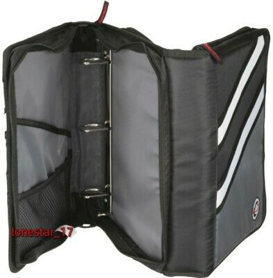 Case-it Z-design Zippered Binder With Tab Filed-ring Z-176 Oxford Black