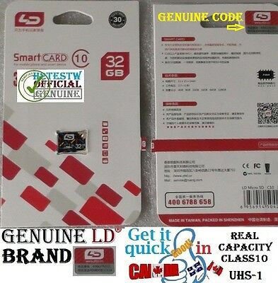 Genuine 32GB 32 gb Micro sd card Class 10 TF Flash Memory
