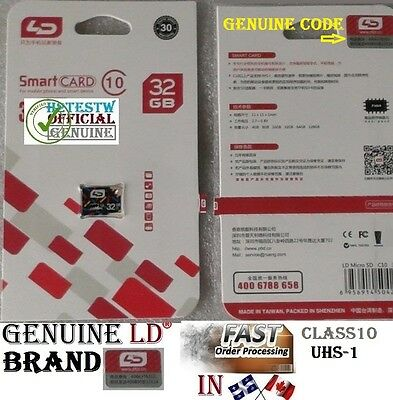 Genuine LD Brand 32GB 32 gb Micro Sd card TF Flash Memory