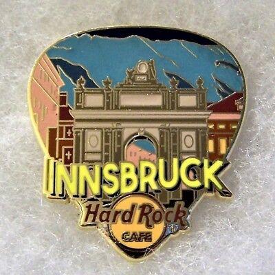 HARD ROCK CAFE INNSBRUCK GREETINGS FROM GUITAR PICK SERIES PIN # 95574