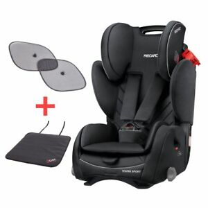 Recaro Young Sport 1/2/3 Child Car Seat Performance Black 9-36kg - Free Gifts!