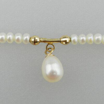 Sehr schöne 585er Gold Perlen Kette - Halskette - B956