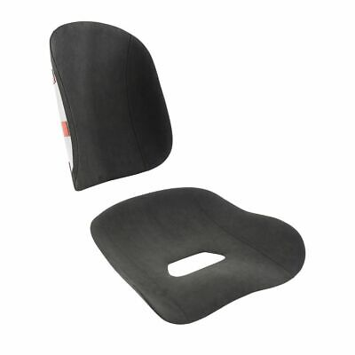 Two Piece Pad Set for Tillett B6 Seat –  Black Dinamica Suede