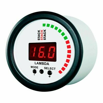 Stack Wideband Lambda AFR Air / Fuel Ratio Gauge / Tuning Aid - White Face
