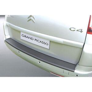 rgm rear black bumper protector for citroen c4 grand picasso 7 seater 06 13 ebay. Black Bedroom Furniture Sets. Home Design Ideas
