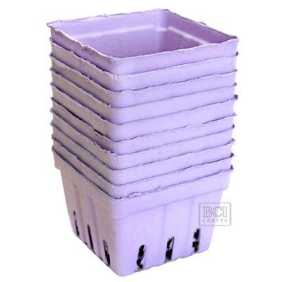10 pc Purple Berry Basket, Strawberry Baskets, 1 pint size - Strawberry Baskets